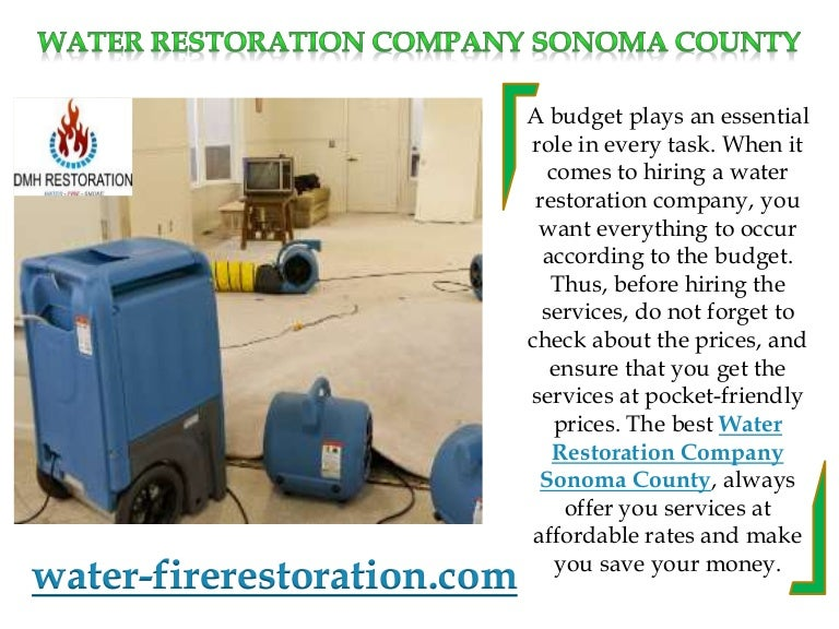 Water restoration company sonoma county