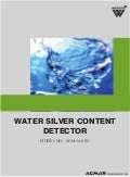 Water Silver Content Detector by ACMAS Technologies Pvt Ltd.