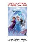 Watch Frozen Ii 2019 Full Movie