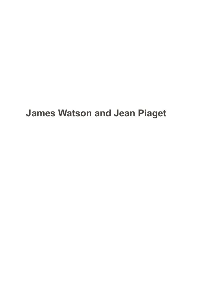 watson and piaget compare and contrast sample paper essay