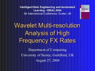 Wavelet   LinkedIn Wavelet Multi resolution Analysis of High Frequency FX Rates