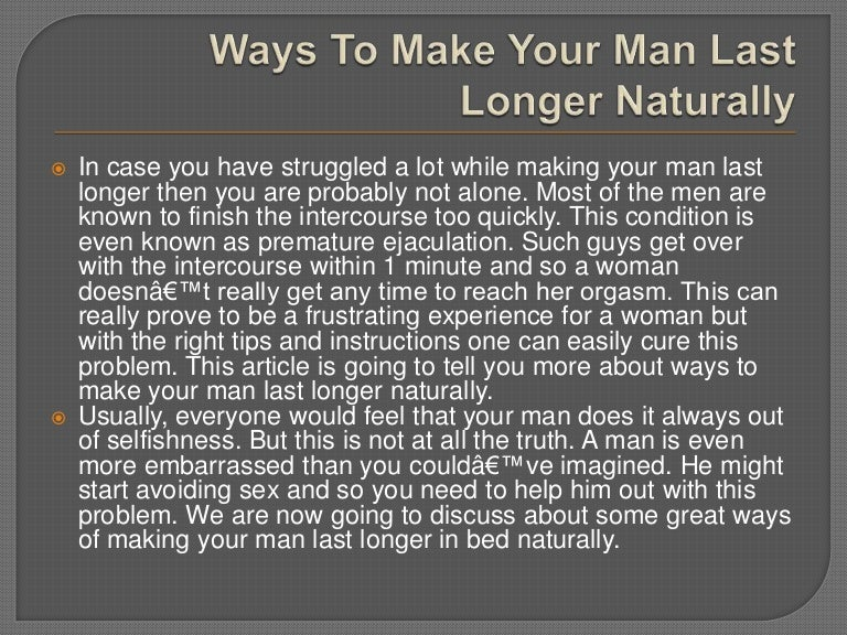 How to make orgasm last longer