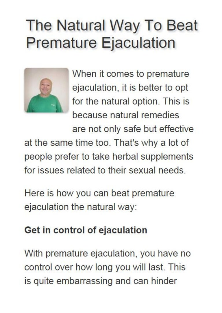 Ways To Prevent Premature Ejaculation Naturally-7529