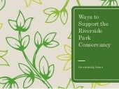 Ways to Support the Riverside Park Conservancy
