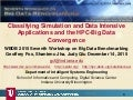 Classifying Simulation and Data Intensive Applications and the HPC-Big Data Convergence