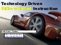 Technology Driven Differentiation - ASTE 2015 Presentation
