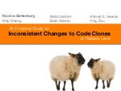 An Empirical Study on Inconsistent Changes to Code Clones at Release Level