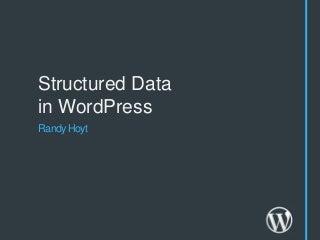 Structured Data in WordPress