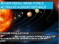 Weak force over great distance