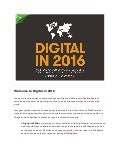 Digital in 2016 Executive Summary