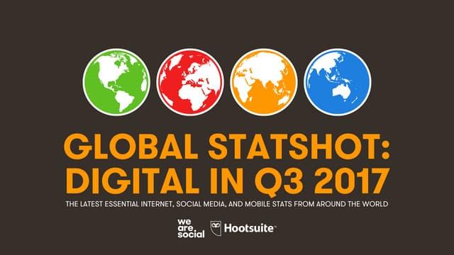 Global Digital Statshot Q3 2017
