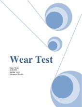 Wear test report