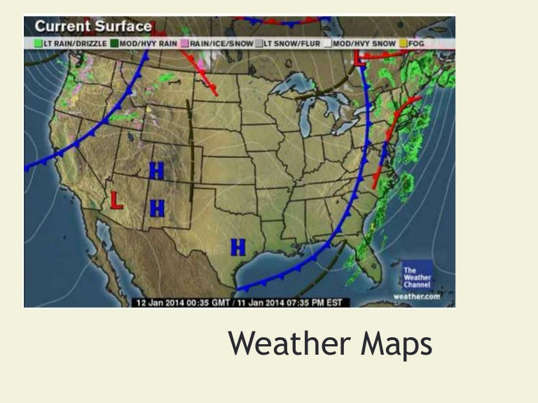 Weather Maps And Their Symbols - Us current surface map