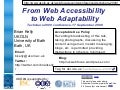 From Web Accessibility to Web Adaptability