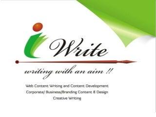 Website content writer services