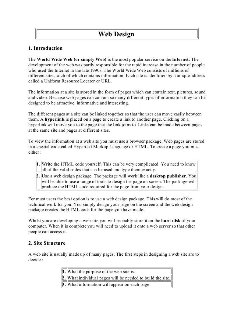 Web Design Notes