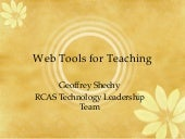 Web Tools for Teaching
