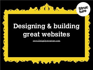 Web design: How to design and build great websites