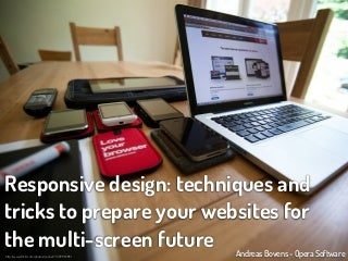 Responsive design: techniques and tricks to prepare your websites for the multi-screen future