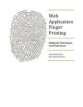 Web application finger printing - whitepaper