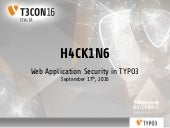 H4CK1N6 - Web Application Security