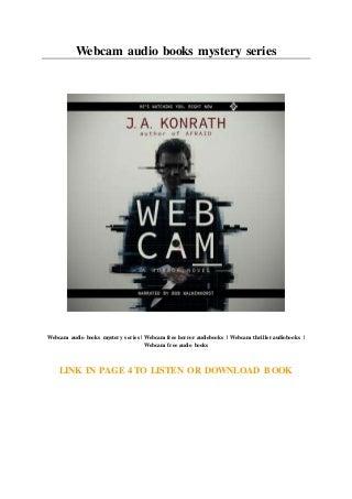 Webcam audio books mystery series