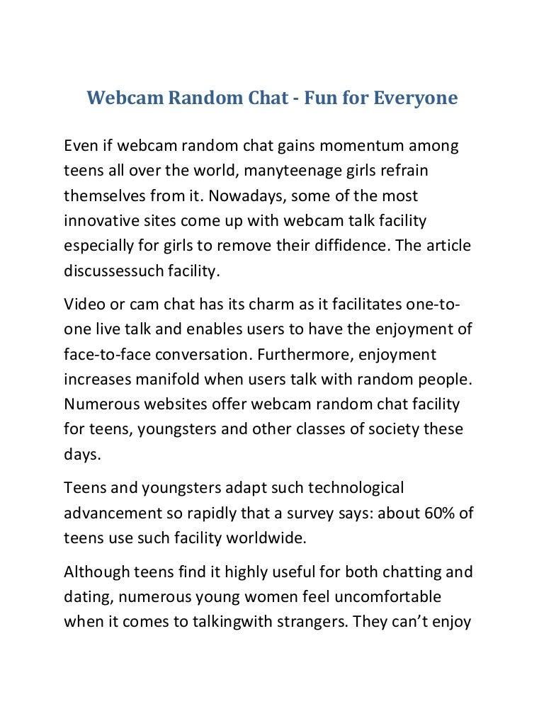 Webcam random people