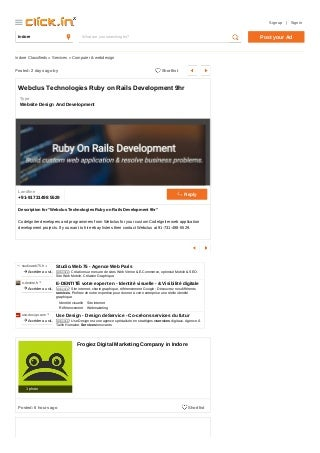 Webclus Technologies -Hire Ruby on Rails Development -Hire ebay lister