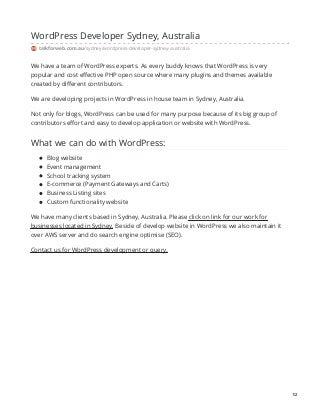Web design and development company in nsw australia