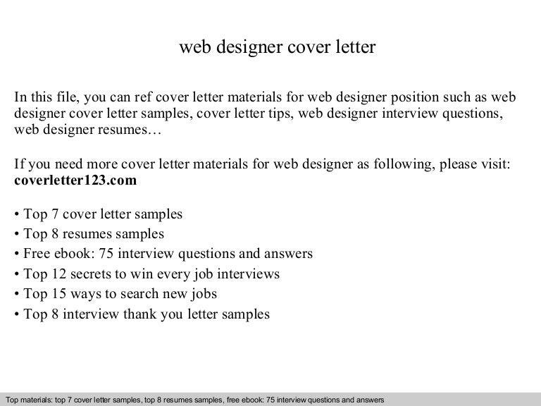 web designer cover letter - Cover Letter For Web Designer
