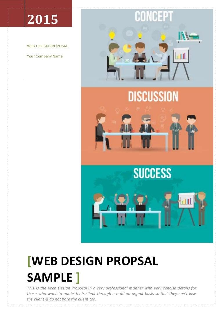 web design proposal templates