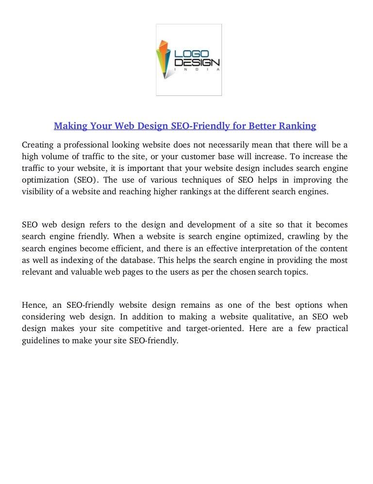 Web Design Seo Friendly For Better Ranking