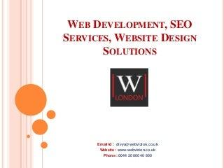 Web development london - WebVizion UK