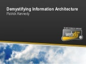 Demystifying Information Architecture
