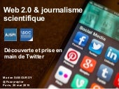 Web 2.0 et journalisme scientifique : prise en main de Twitter