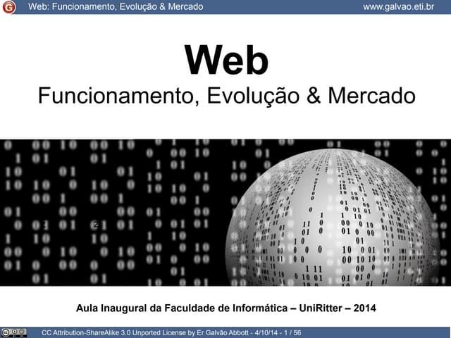 Web: funcionamento, evolução e mercado
