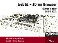 WebGL - 3D im Browser - Erfahrungsbericht mit BabylonJS