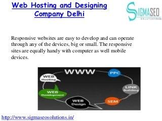 Web Hosting and Designing Company Delhi