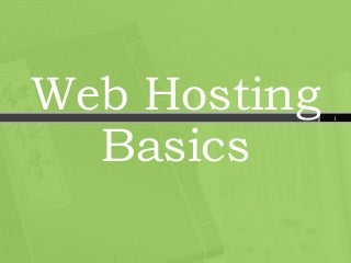 Web Hosting Service Basics - Find out what Host You Need!