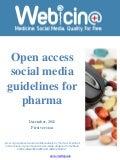 Webicina Open access social media guidelines for pharma