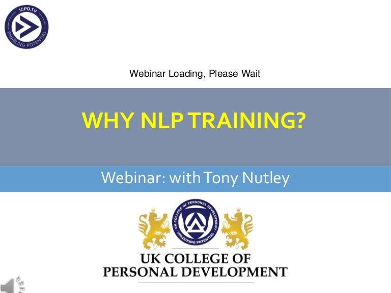 Why Learn NLP or go on an NLP Training : Webinair