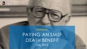 Webinar - Paying an SMSF death benefit