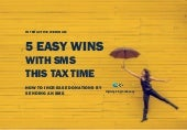 Webinar: 5 Easy Wins with SMS this Tax Time