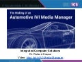 Making an OpenSource Automotive IVI Media Manager