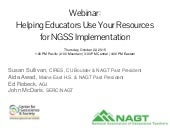 Webinar: Helping Educators Use Your Resources for Implementation of the Next Generation Science Standards