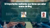 Webinar - Marketing Online con Microsoft Bing Ads