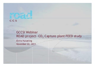 Webinar Slides - ROAD Project - CO2 Capture Plant FEED Study
