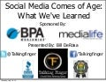 Webinar slides: Social Media Comes of Age. Social Media Marketing Trends and the Future