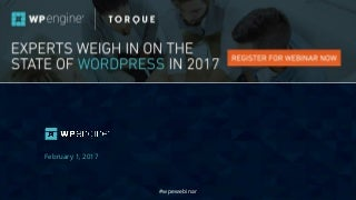 Webinar: Experts Weigh in on the State of WordPress for 2017