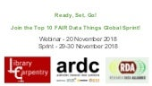 Ready, Set, Go! Join the Top 10 FAIR Data Things Global Sprint